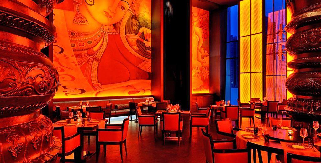 Cenate in uno dei ristoranti della struttura