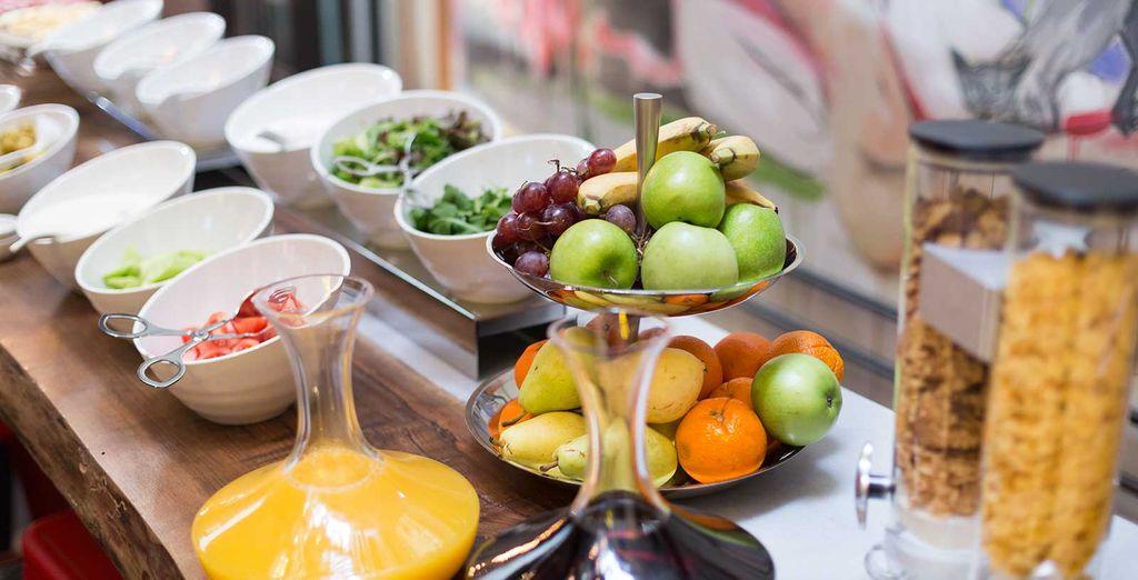Iniziate la giornata con una ricca e sana colazione servita a buffet