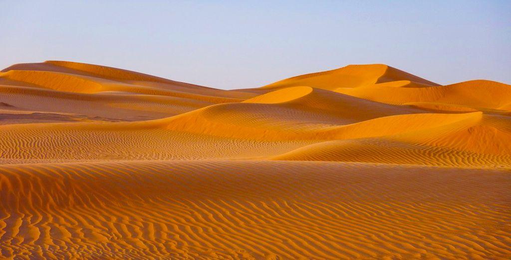 Ammirate gli infiniti deserti tipici dell'Oman