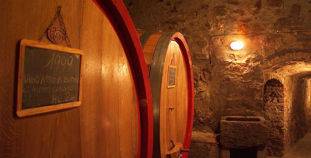 e visitare le cantine del tradizionale vino