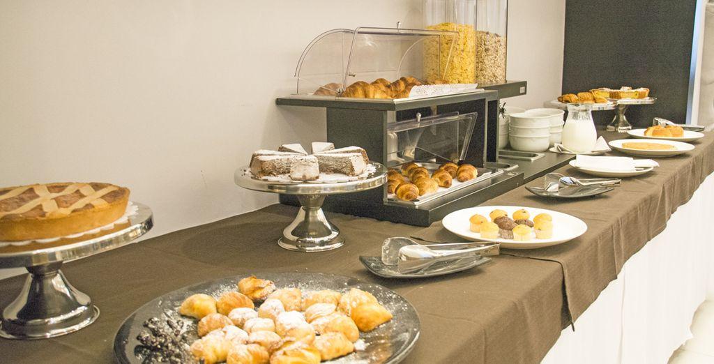 Cominciate la giornata con una ricca ed abbondante prima colazione
