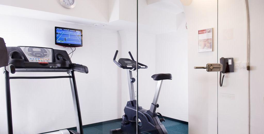 Mantenetevi allenati nella sala fitness attrezzata