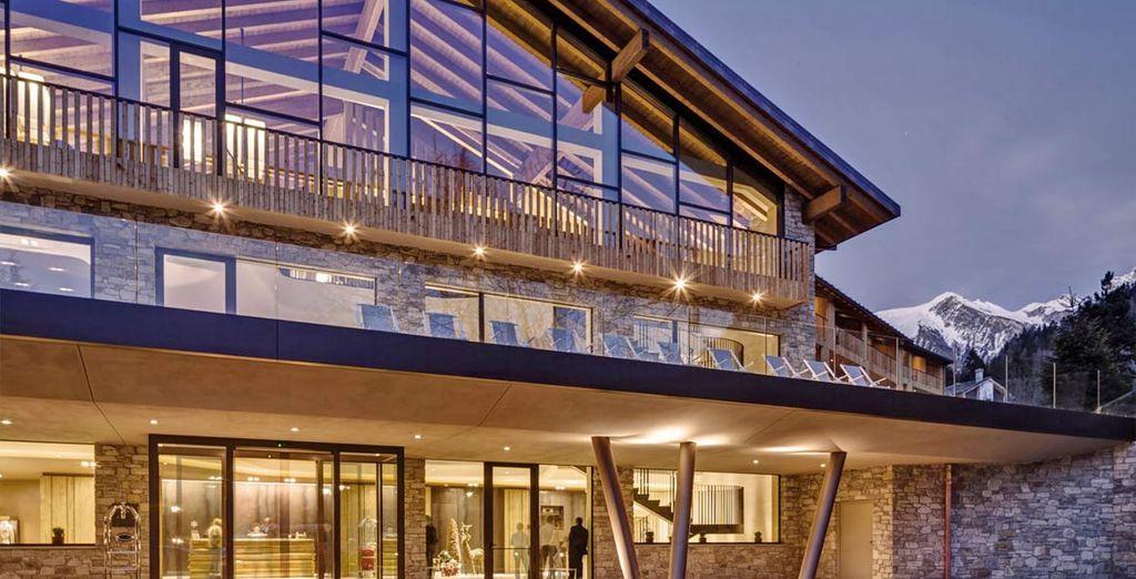 In prestigioso Grand Hotel Courmayeur Mont Blanc  5*