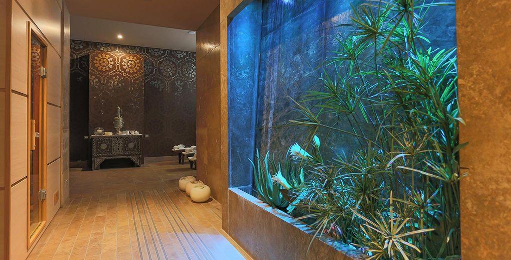 Il centro benessere è una vera oasi nel cuore dell'hotel