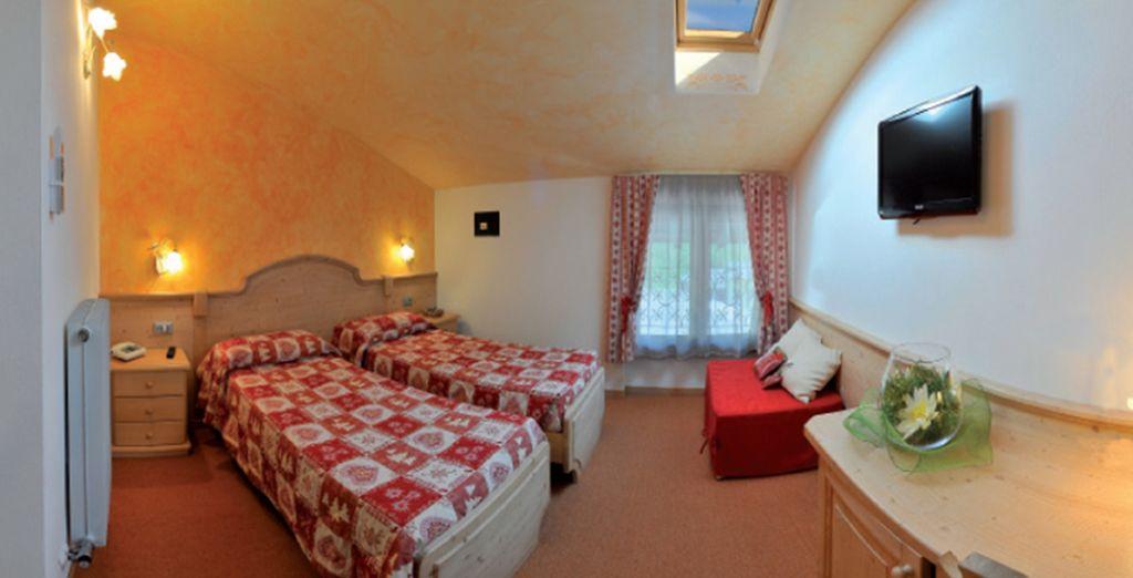 Soggiornerete nelle eleganti e semplici camere Standard