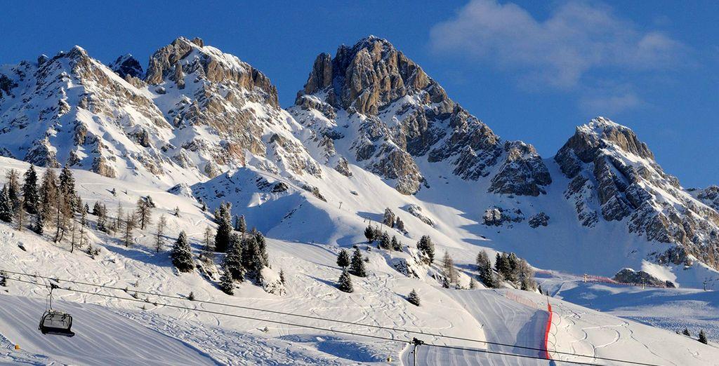 Ammirate il panorama unico del Trentino Alto Adige.