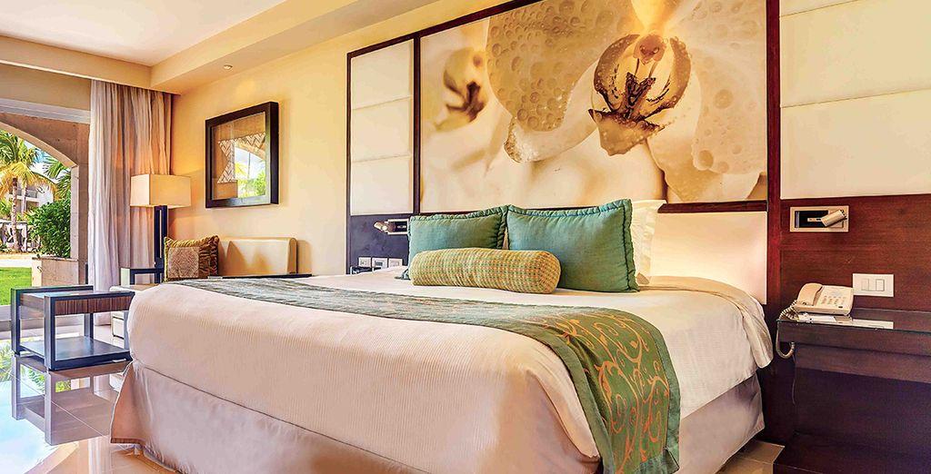 Posate le valigie nella vostra ampia e confortevole Camera Luxury