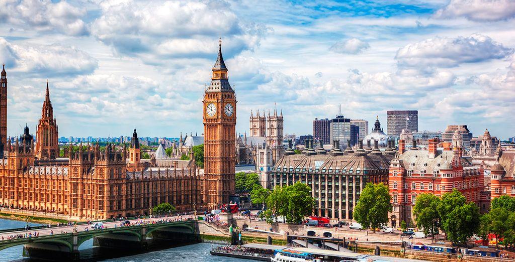 sarete nel cuore di Londra, stupenda metropoli e capitale d'Europa