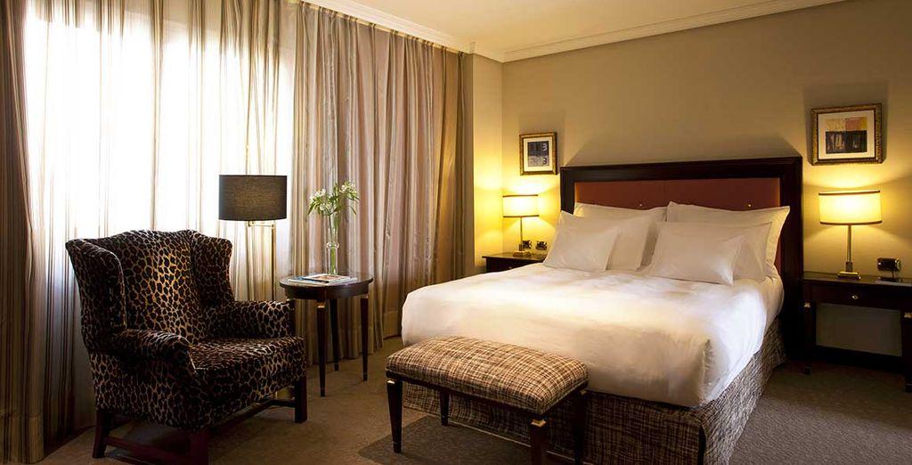 Hotel 5 stelle lusso a Madrid, Spagna, camera doppia con tutti i comfort