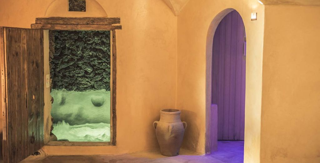 Provate la grotta o la sauna