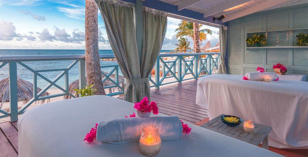concedetevi un massaggio e piccoli momenti di benessere nella spa del Resort