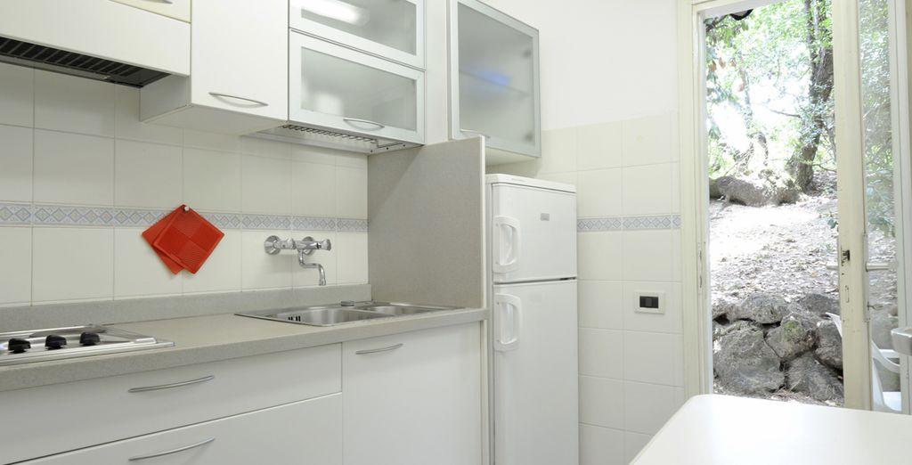 inclusa la cucina attrezzata privata