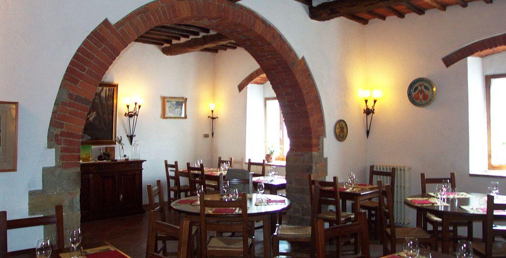 Il ristorante propone piatti tradizionali