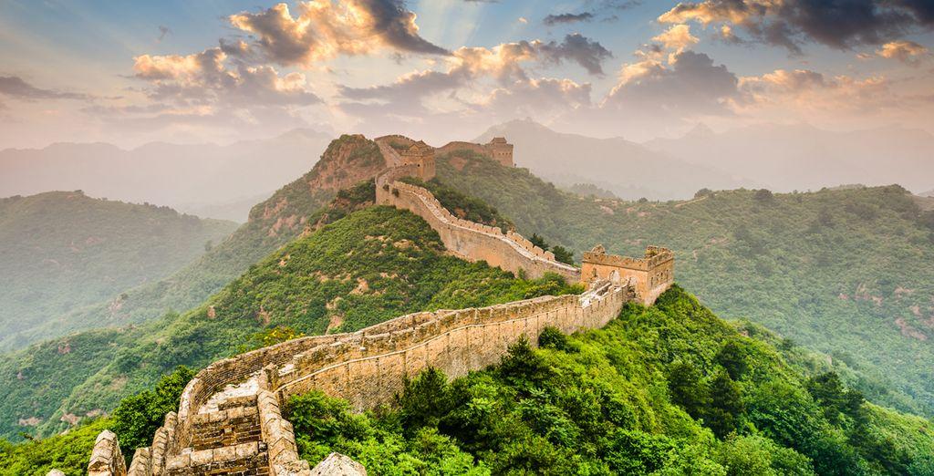 Fotografia della parete cinese in Asia