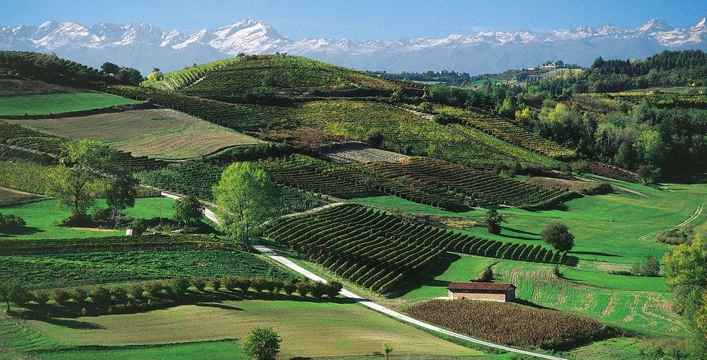 Paesaggio di Montaldo Torinese in Italia nel cuore del Piemonte