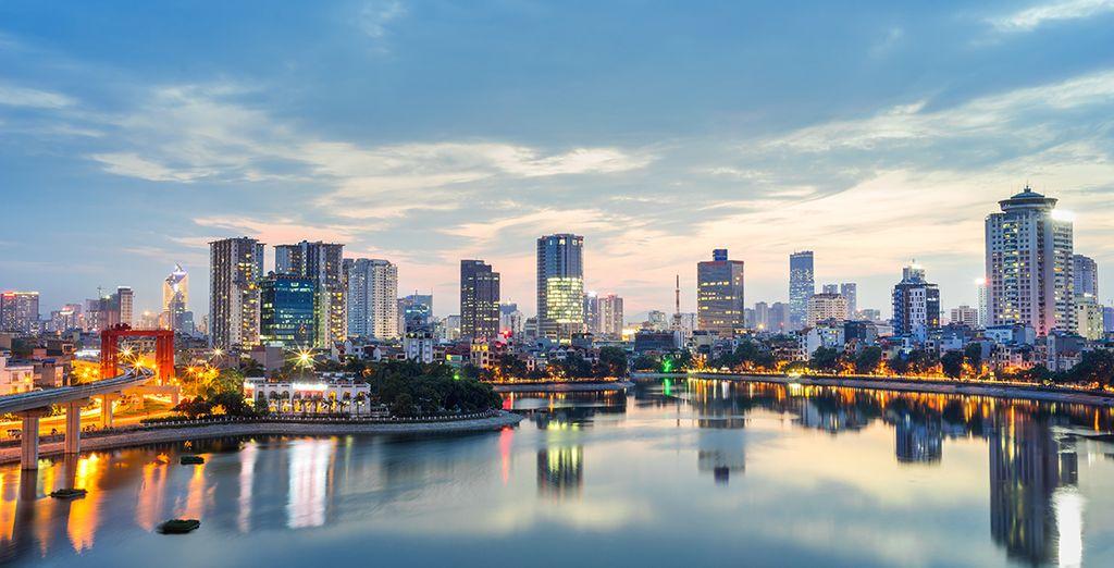 Fotografia della città di Hanoi in Vietnam