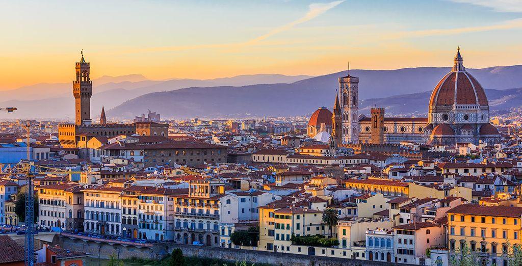Fotografia della città di Firenze in Italia, nel cuore della bellissima regione Toscana
