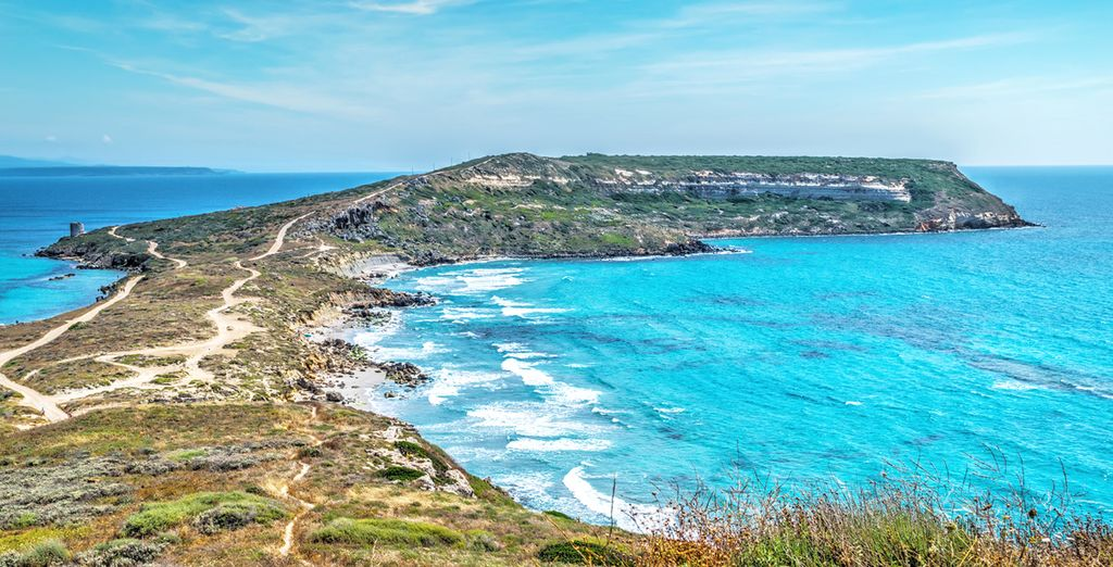 Paesaggio sardo affacciato sul Mar Mediterraneo