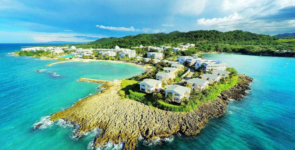 Fotografia della Giamaica dall'alto