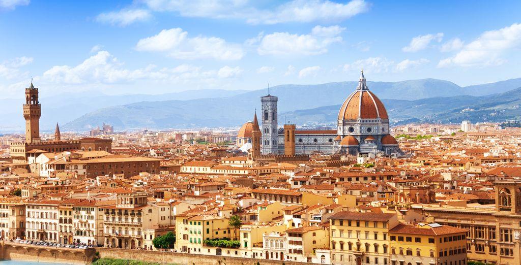 Fotografia della città di Firenze in Italia e dei suoi monumenti storici