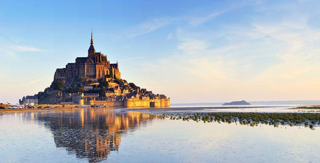 Fotografia di Mont Saint Michel in Francia