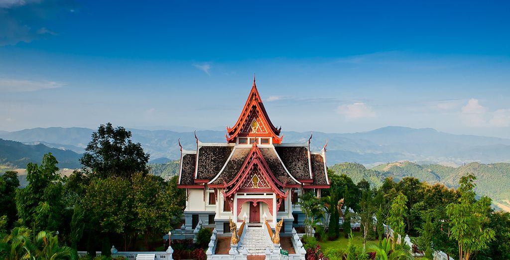 Fotografia di Bangkok in Thailandia e del famoso Triangolo d'Oro