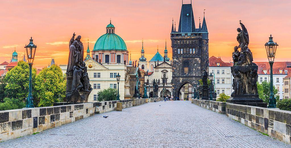 Fotografia di Praga e delle sue architetture barocche
