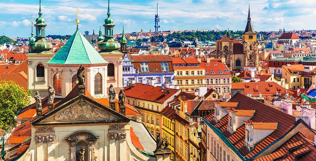 Fotografia della città di Praga nella Repubblica Ceca e delle sue architetture essenziali
