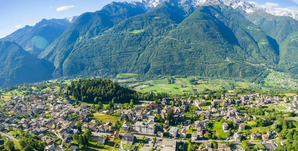 Fotografia delle Alpi intorno a Sondrio