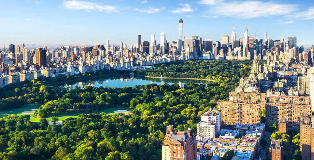 Passeggiata attraverso Central Park a New York