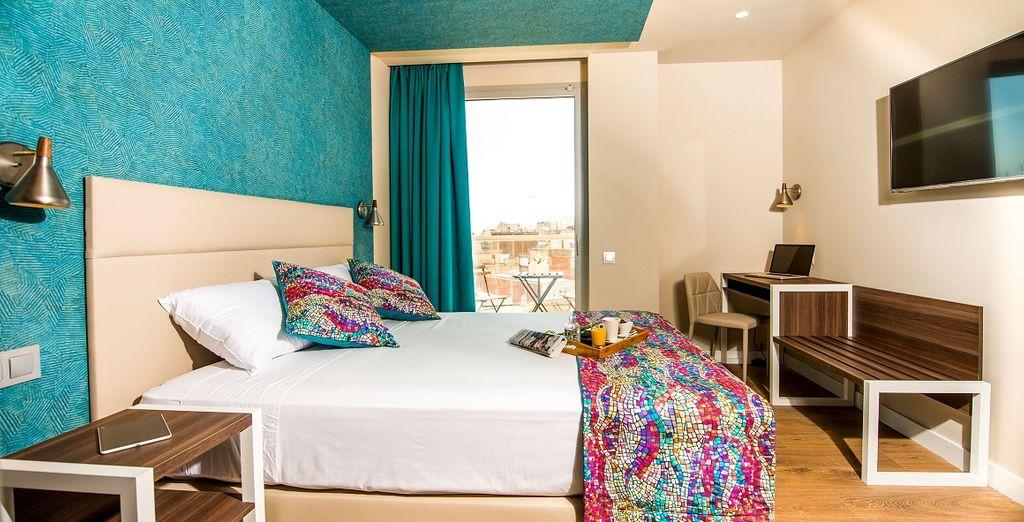 Soggiornerete nelle splendide camere comfort con balcone
