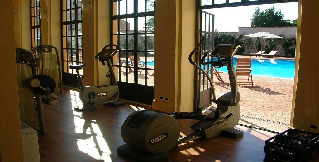 e tenetevi in forma grazie all'attrezzato centro fitness