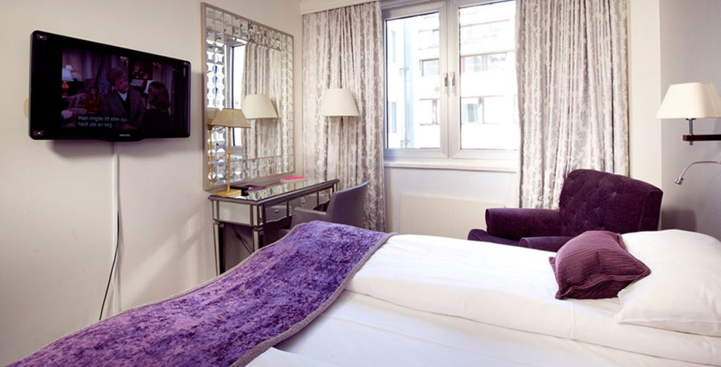 Durante il soggiorno avrete riservate confortevoli camere