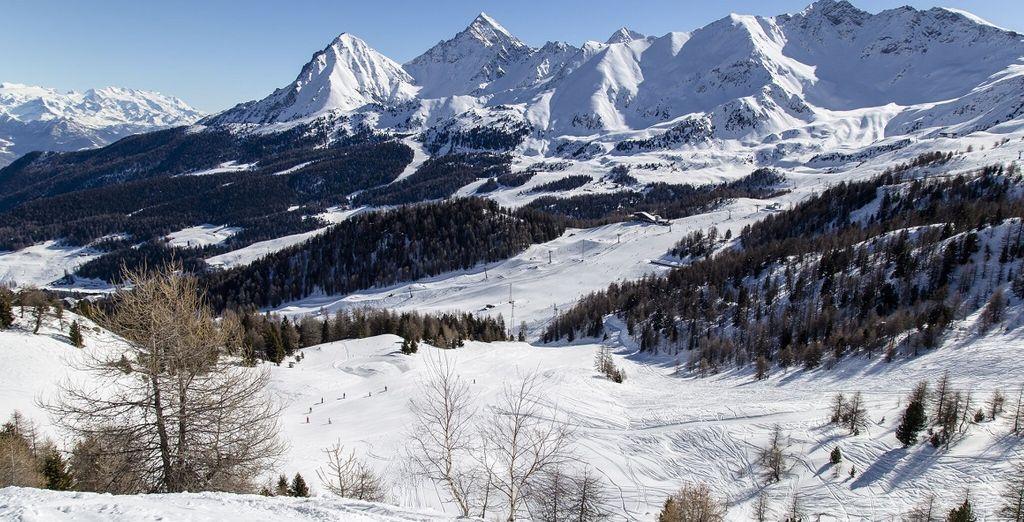 Valtournenche e le sue montagne innevate