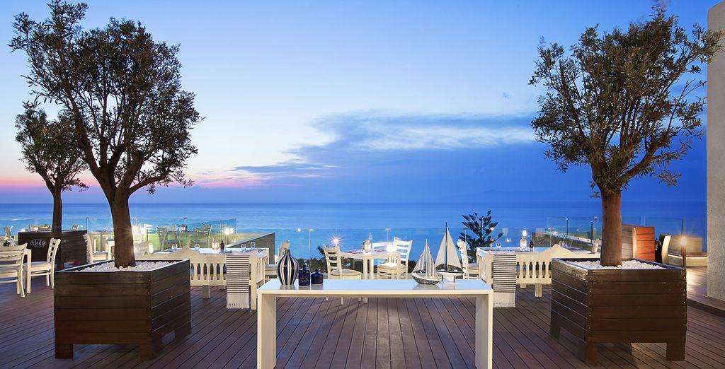 Uno scenario suggestivo accompagnerà i vostri ristori presso il Ristorante Thea.
