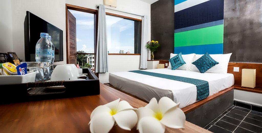 In Cambogia vi attende il Patio Urban Resort & Hotel a Phnom Penh, per voi accoglienti Camere Superior