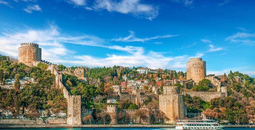 Fotografia di Istanbul e del Bosforo
