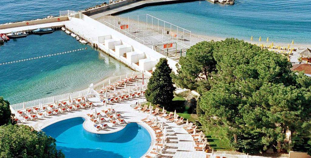 hotel 4* con l'unica spiaggia privata di Monte Carlo