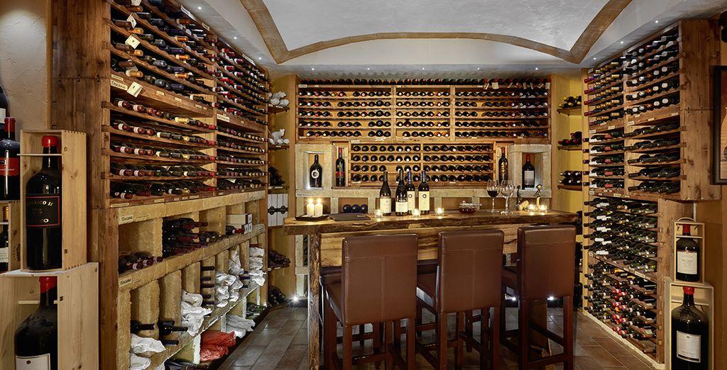 e degustando i pregiati vini della cantina dell'hotel