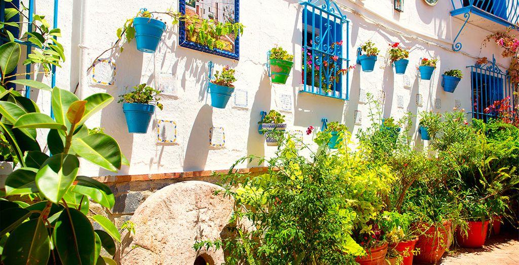 Villaggi intorno a Malaga e le sue strade fiorite