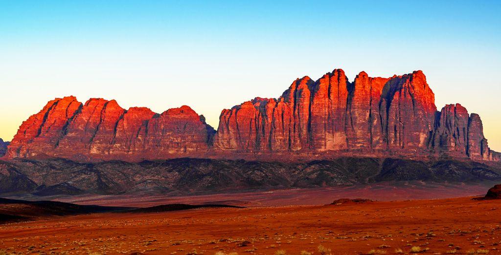 Fotografia del deserto del Wadi Rum Rum e dei suoi paesaggi mozzafiato