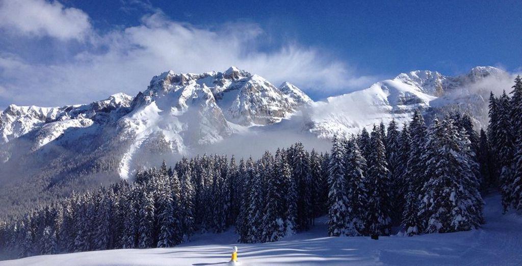 Madonna di Campiglio è l'unica che assicura agli amanti dello sci da discesa di trascorrere un'intensa giornata sulla neve