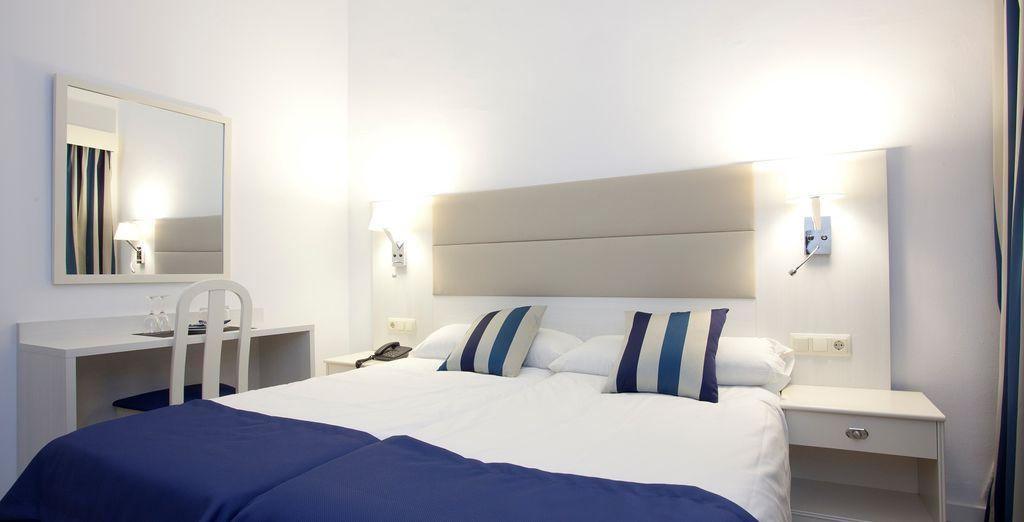 Una confortevole camera vi aspetta per il  vostro soggiorno