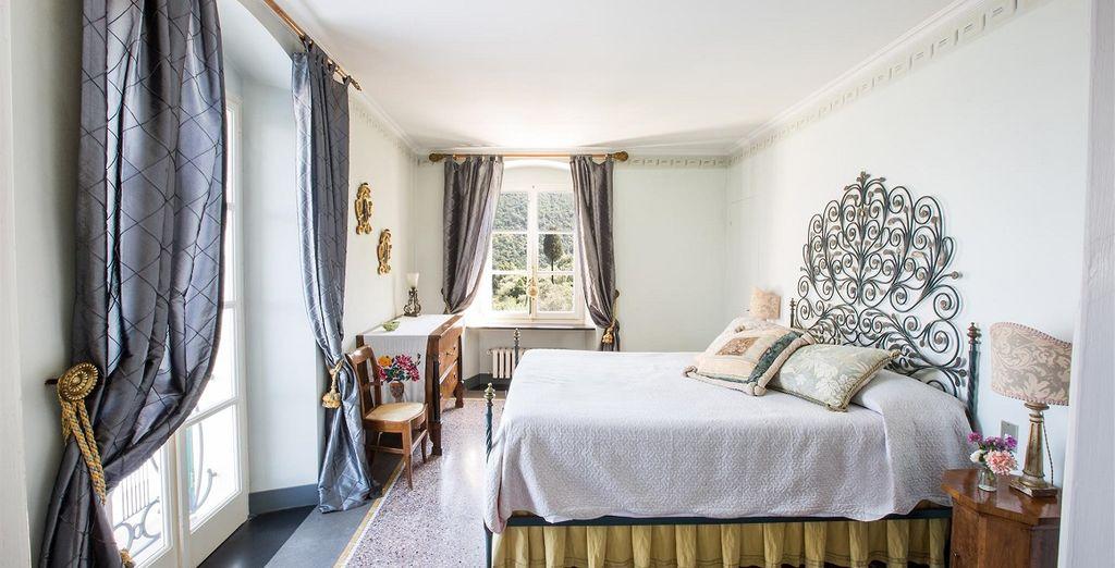 Affascinante villa con camera confortevole, con vista sul mare Mediterraneo, e relax vicino a La Spezia in Italia