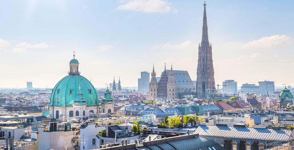 Fotografia della città di Vienna e della sua bella architettura