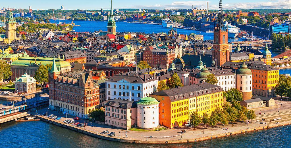 Fotografia della colorata città di Copenhagen, capitale della Danimarca