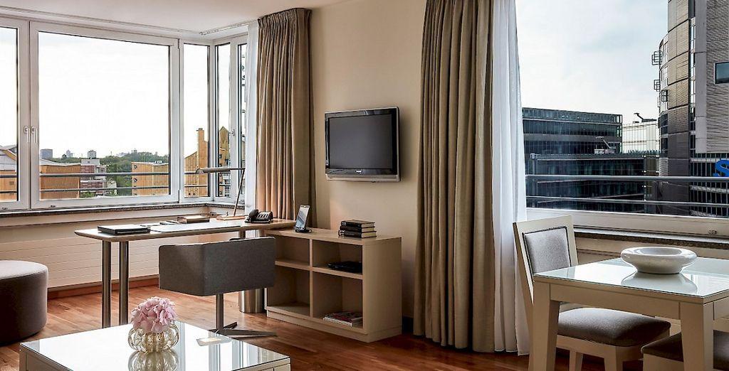 una camera moderna e confortevole