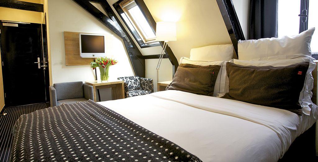 En elke kamer heeft een unieke stijl die volledig tot haar recht komt (afbeelding: Kleine Tweepersoonskamer)