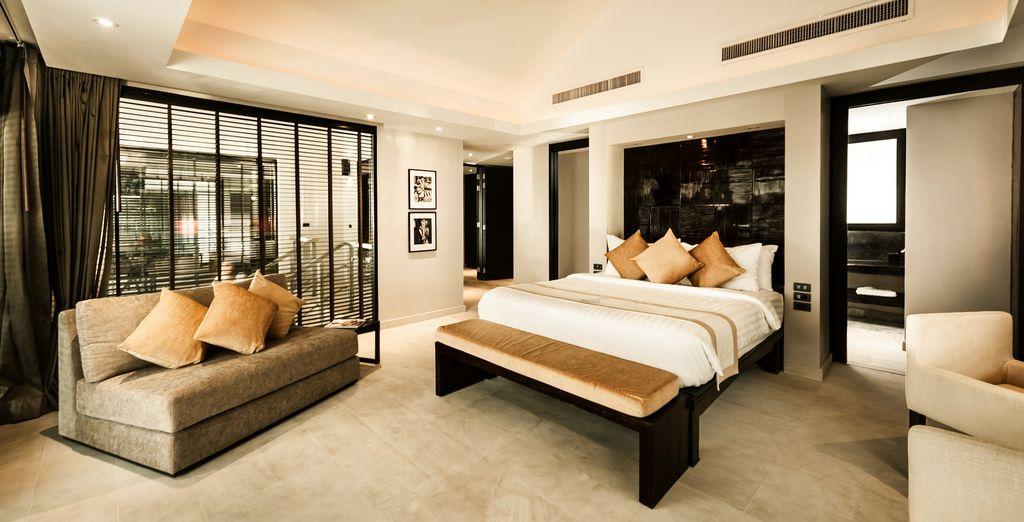 Maak het uzelf comfortabel in de 2 Slaapkamer Chic Junior Pool Suite