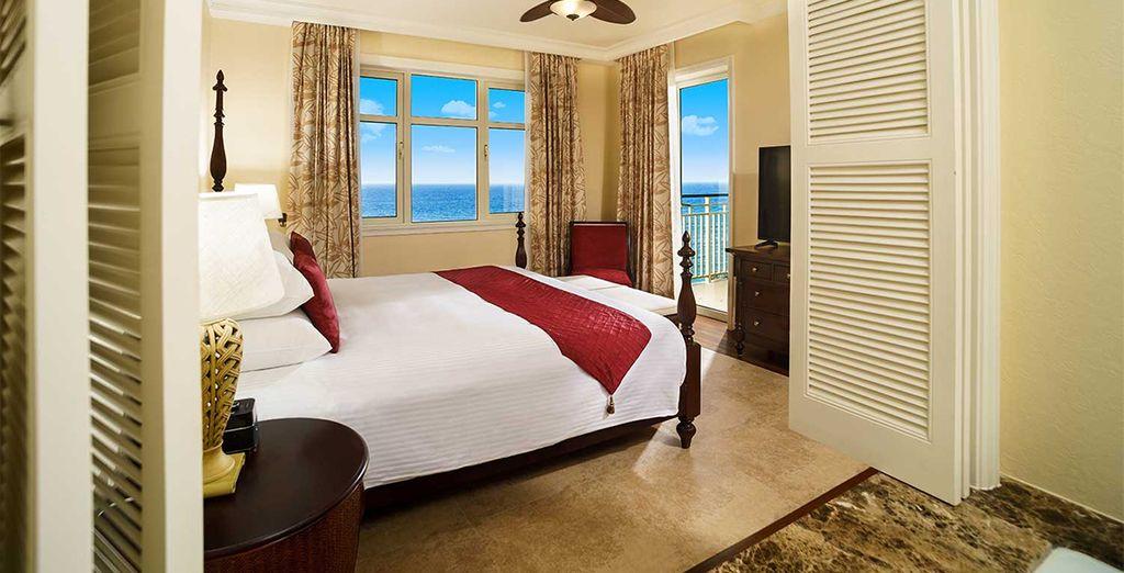 Of in een Ocean Front Suite met 1 slaapkamer